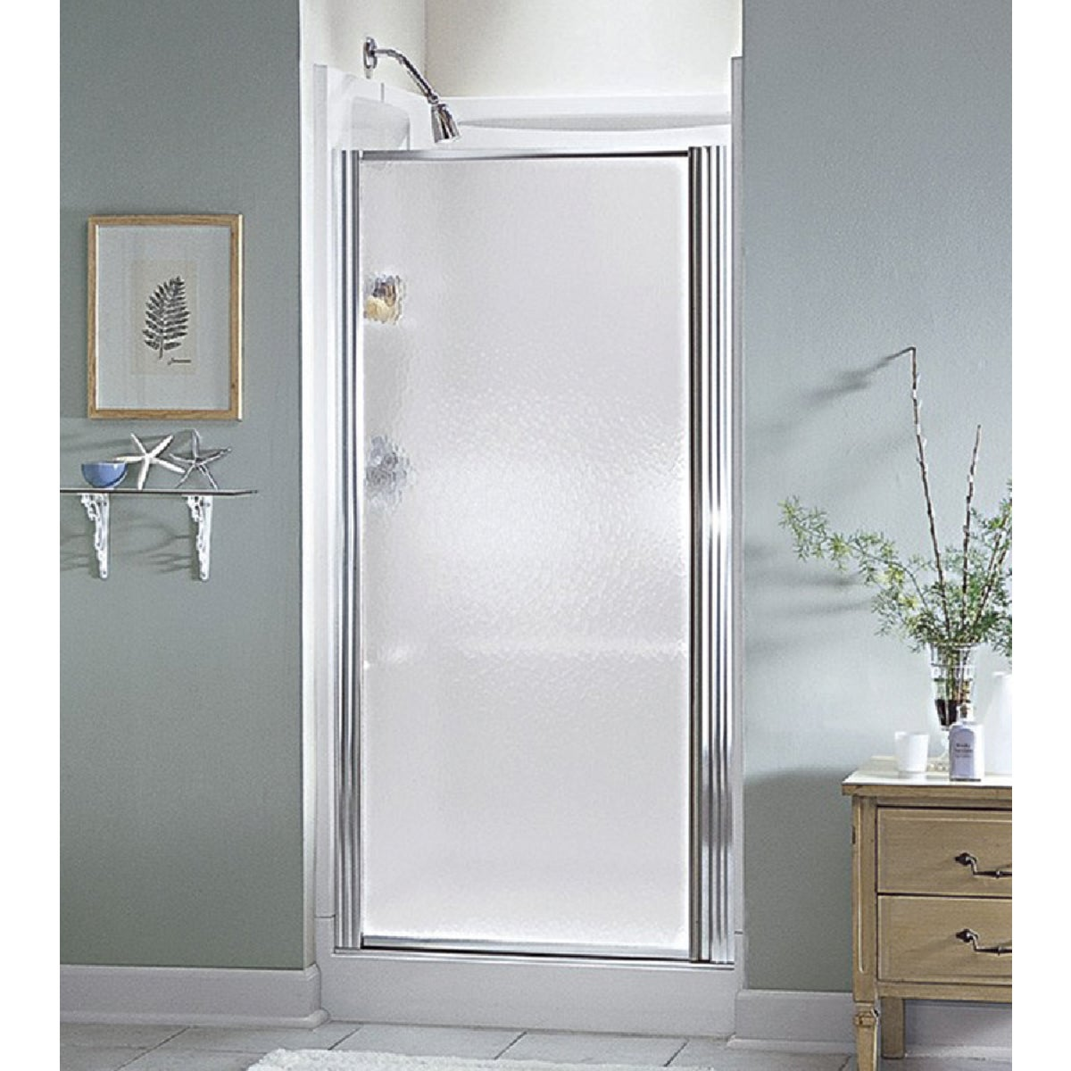 SILVER HINGED SHWR DOOR