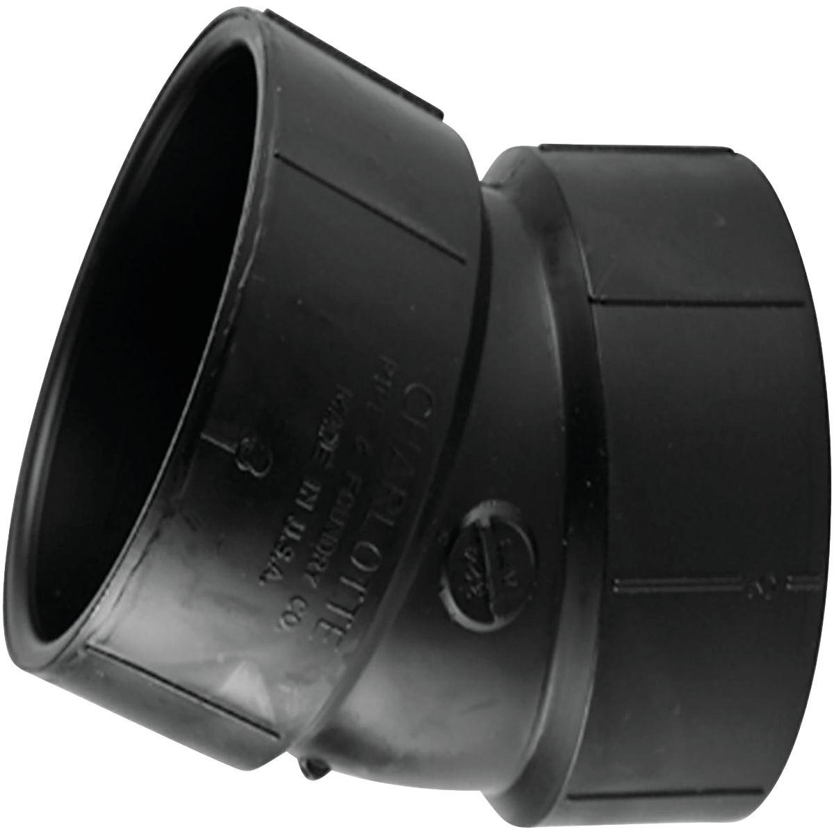 Genova Products 80840 ABS-DWV 22-1/2-Degree Elbows, 4