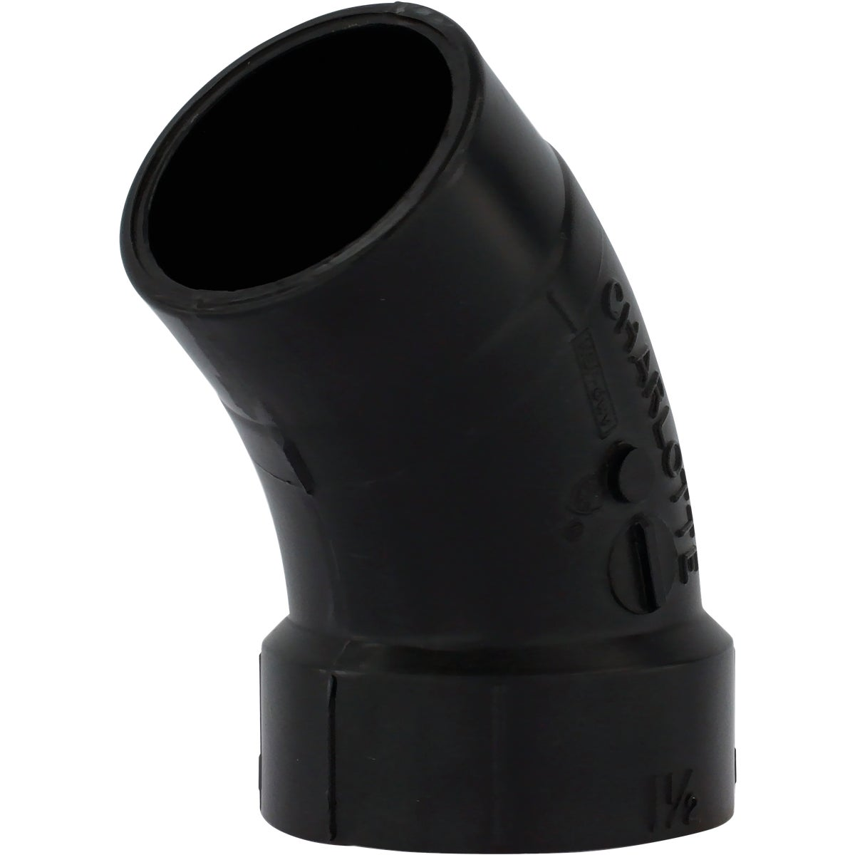 "1-1/2"" 45D ABS STR ELBOW"