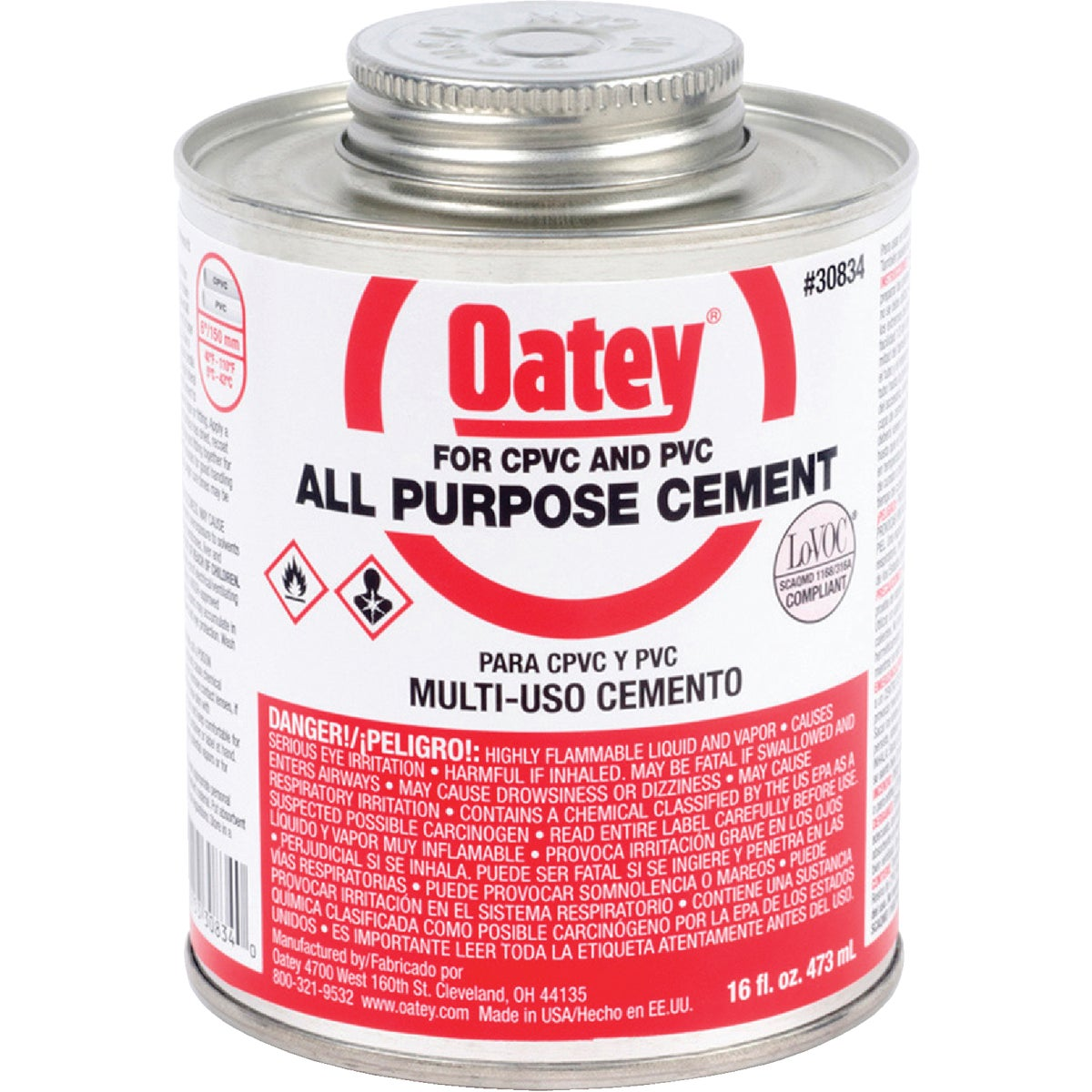 Oatey PINT ALL-PURPOSE CEMENT 30834