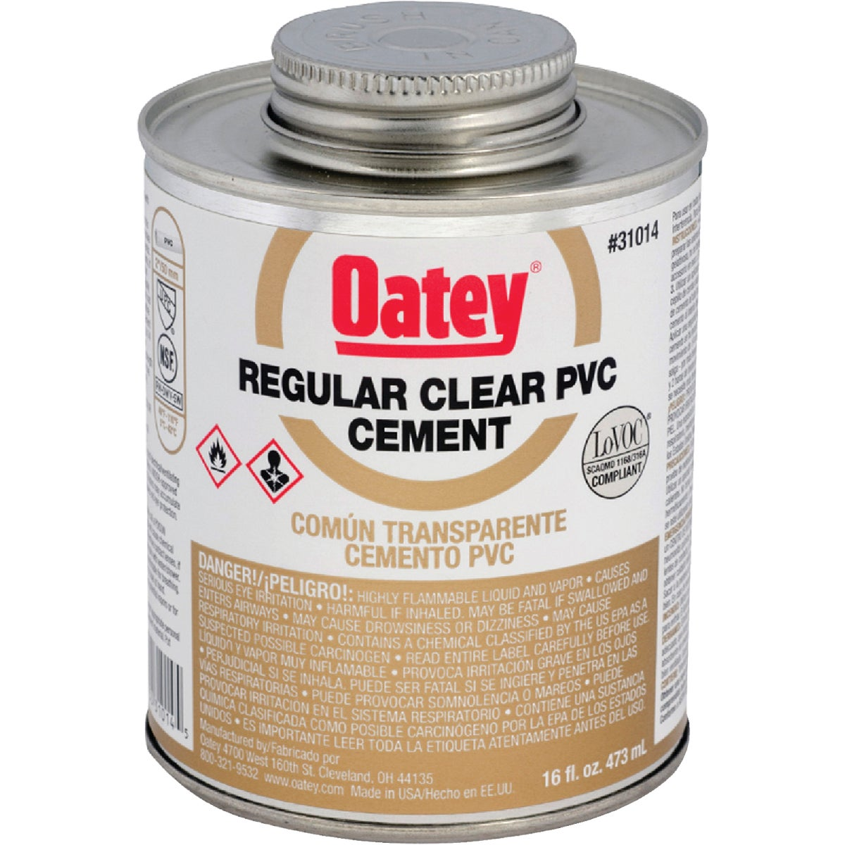 PINT PVC CEMENT - 31014 by Oatey Scs