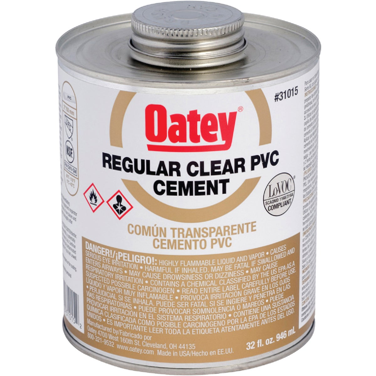 QUART PVC CEMENT - 31015 by Oatey Scs