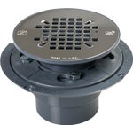 PVC Pan Shower Drain Stainless Steel Strainer