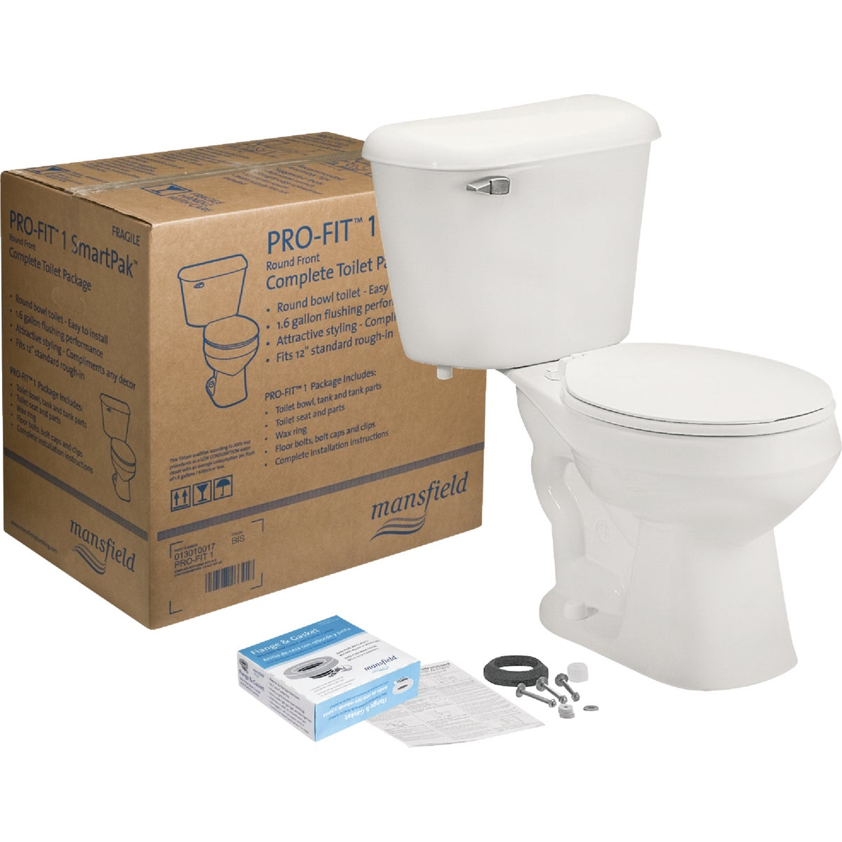 PRO-FIT 1 1.28GPF RF WHT - 041300017 by Mansfield Plumbing