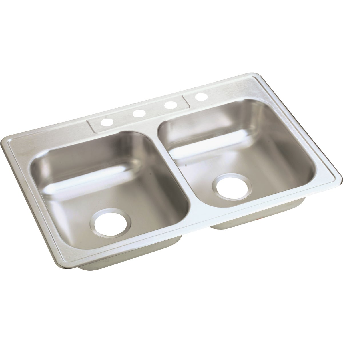 "6"" SS DOUBLE-BOWL SINK"