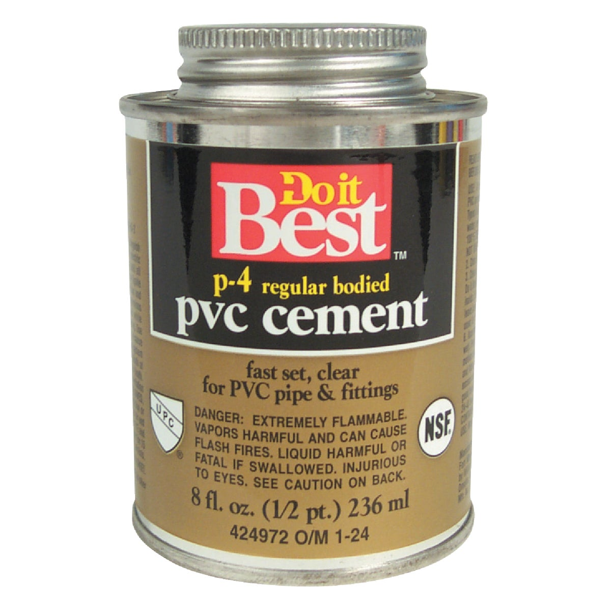 1/2PINT PVC CEMENT - 018117 by Wm H Harvey Co