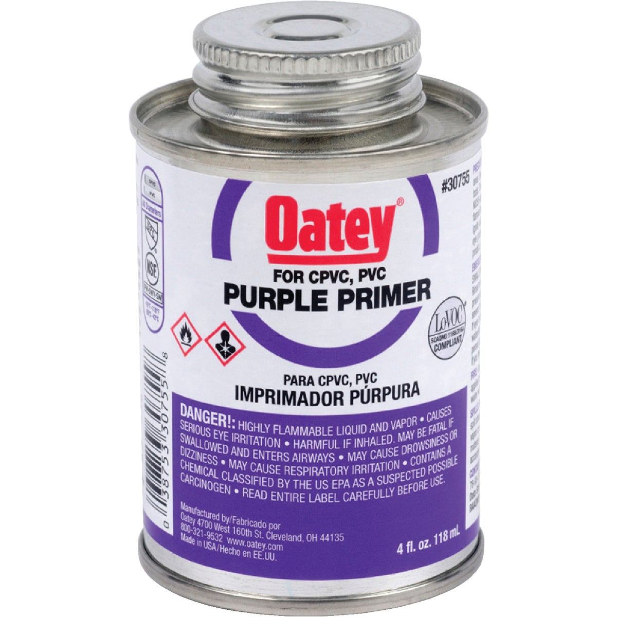 1/4PINT PURPLE PRIMER - 30755 by Oatey Scs