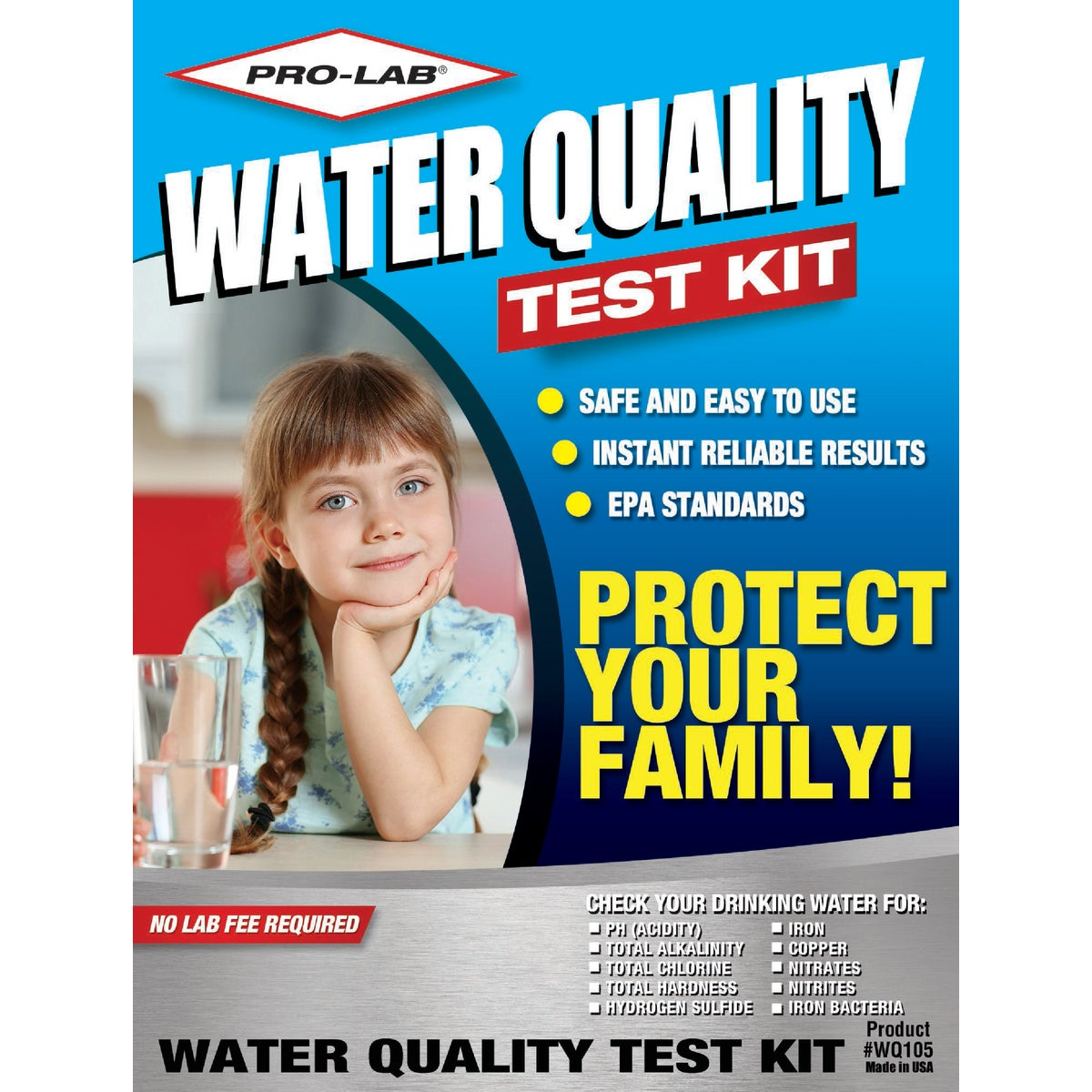 WATER QUALITY TEST KIT - WQ105 by Pro Lab Inc