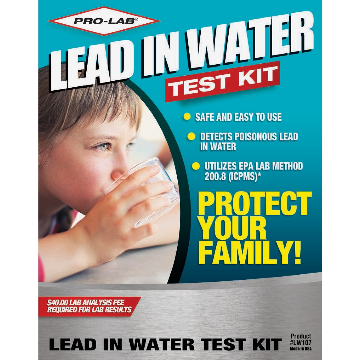 LEAD IN WATER TEST KIT - LW107 by Pro Lab Inc