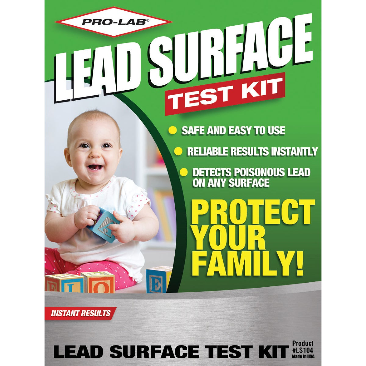 LEAD SURFACE TEST KIT - LS104 by Pro Lab Inc