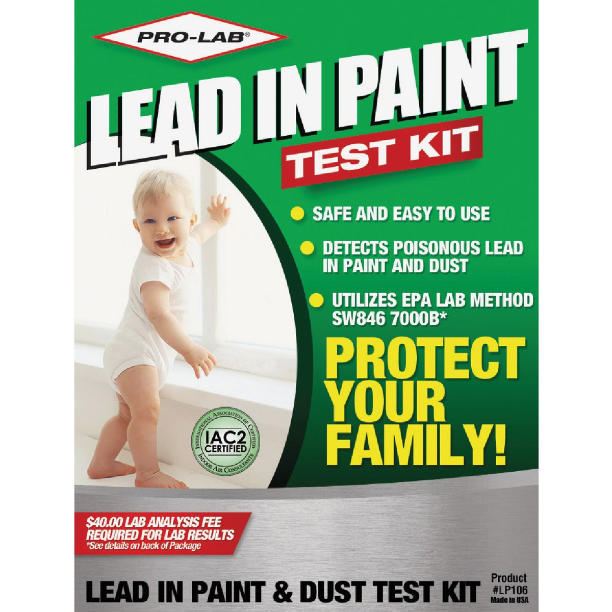 LEAD DUST/PAINT TEST KIT - LP106 by Pro Lab Inc