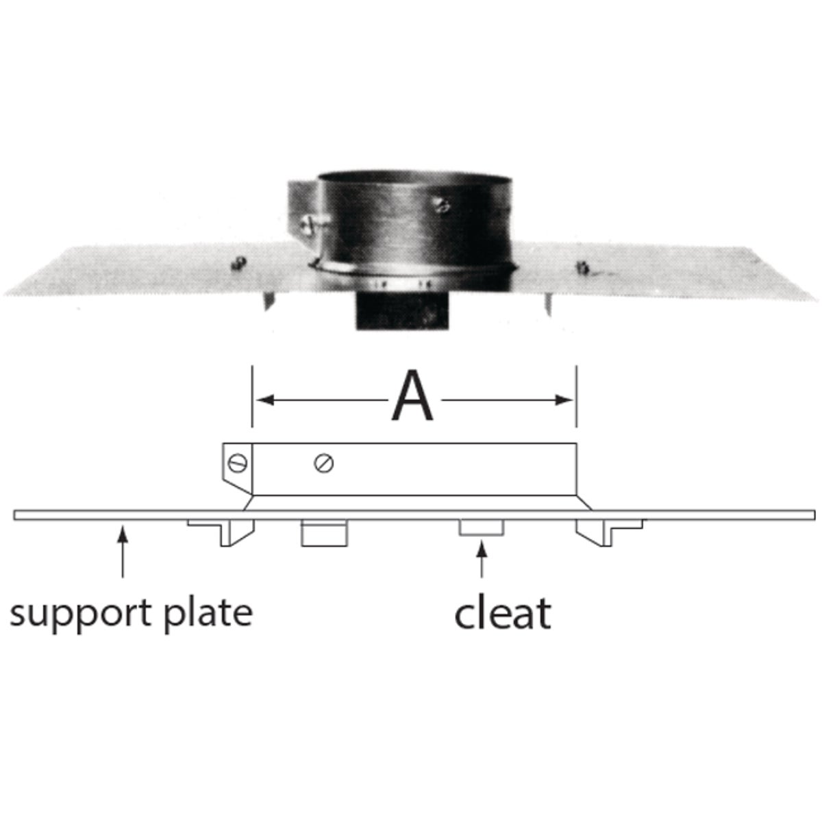 """6"""" GAS VENT PIPE SUPPORT"""