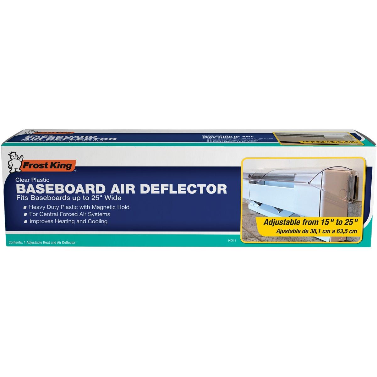 "15-25"" ADJ AIR DEFLECTOR - HD11 by Thermwell Prods Co"