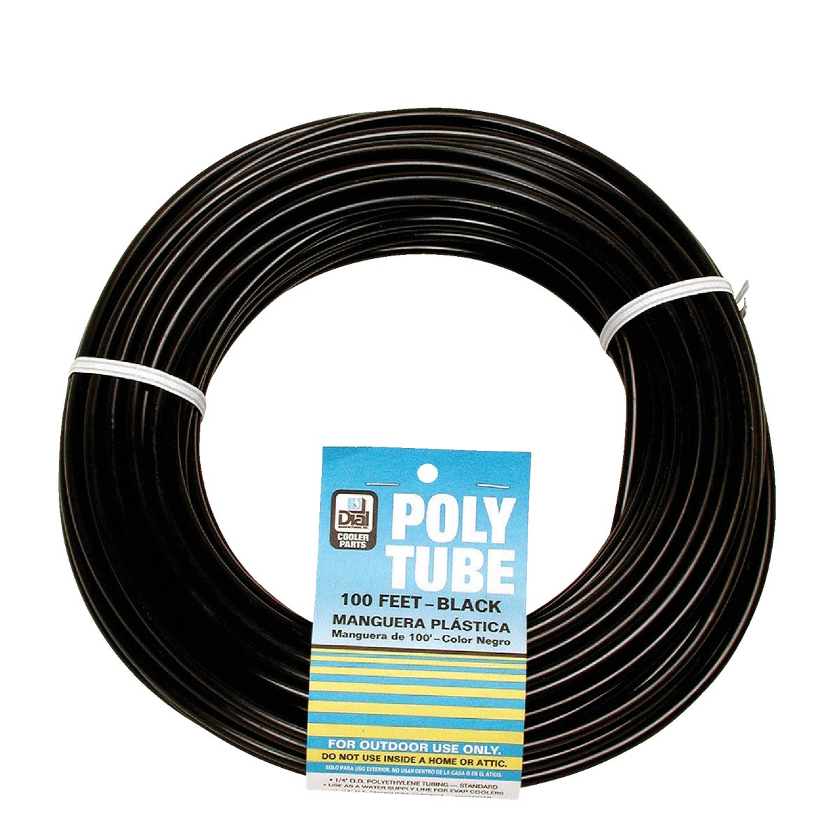 "1/4""X1000' BLK POLY TUBE - 4325 by Dial Manufacturing"