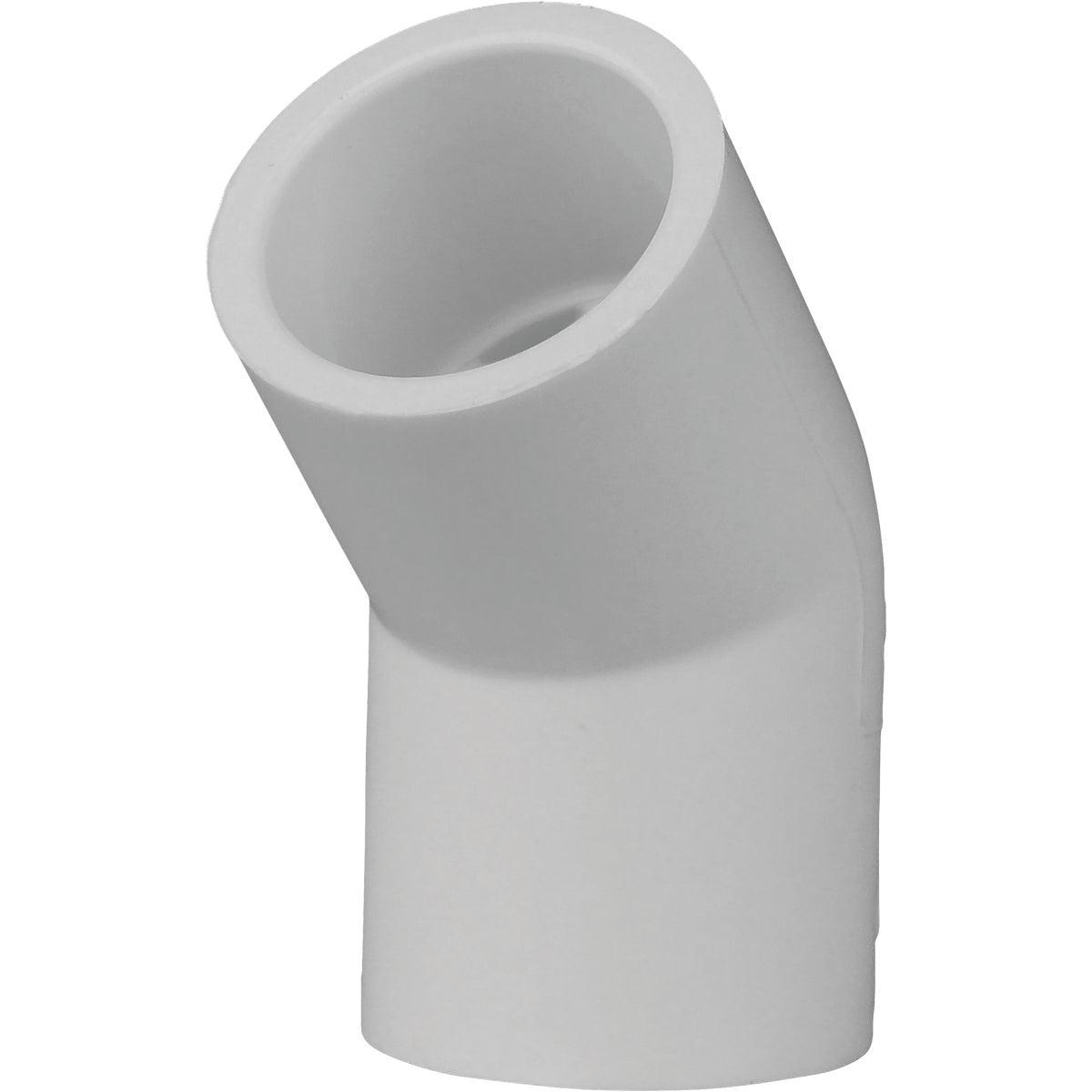 """1/2"""" 45D SCH40 PVC ELBOW"""