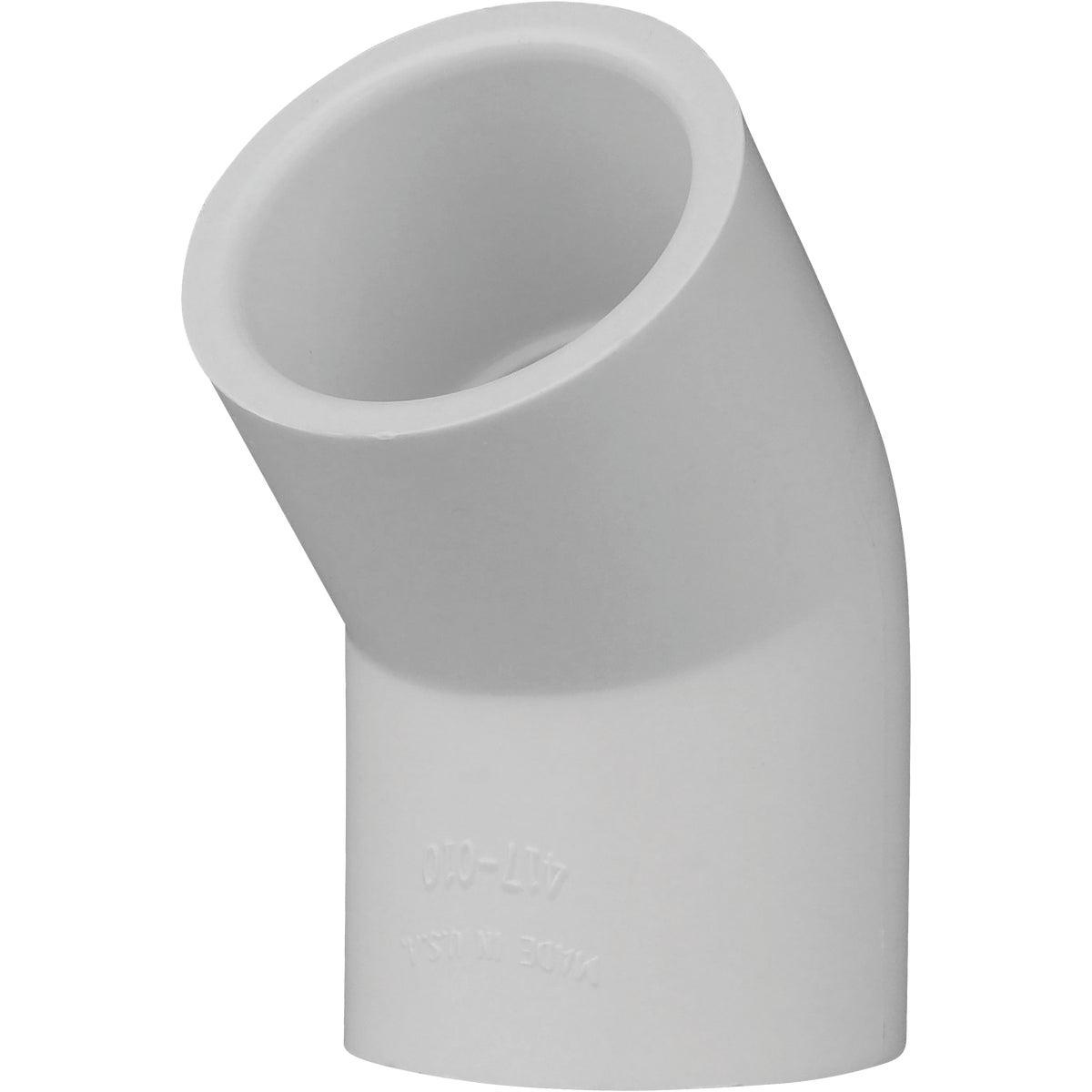 """1"""" 45D SCH40 PVC ELBOW"""