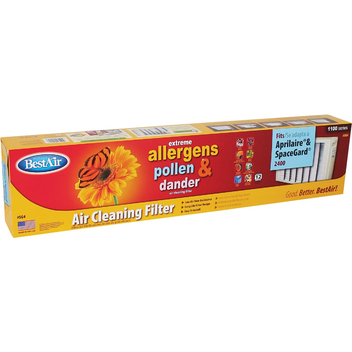 RPS Products Inc SPACEGARD FURNACE FILTER SG4