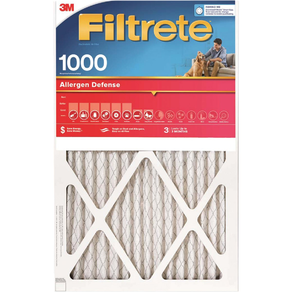 15X20X1 ALLERGEN FILTER - 9806DC-6 by 3m Co