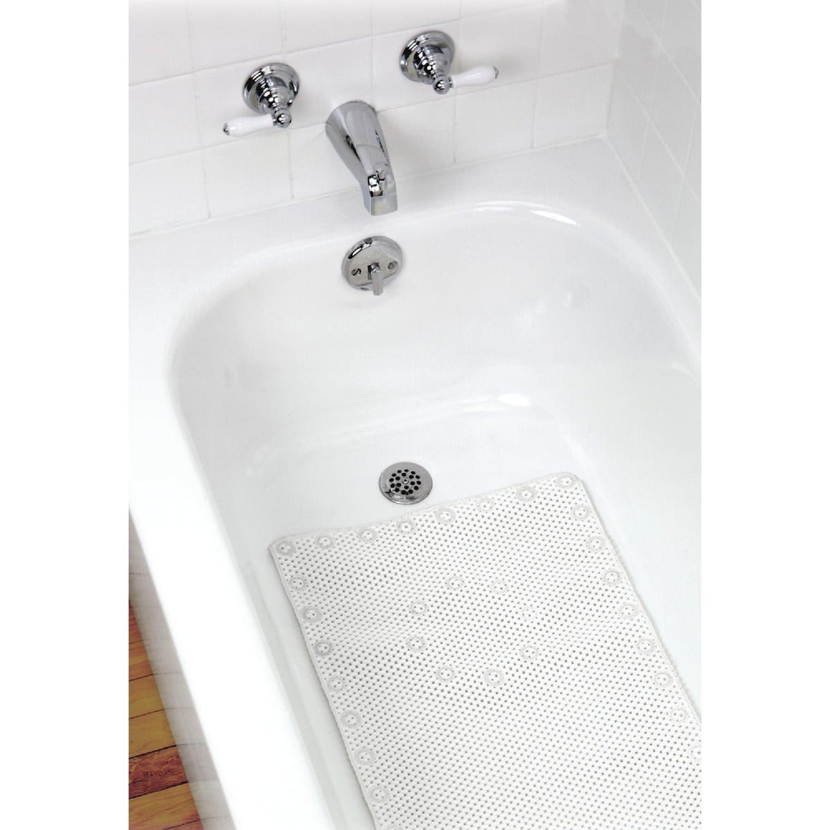 WHITE FOAM BATH MAT