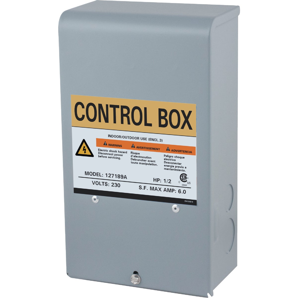 1/2HP 230V CONTROL BOX - 127189 by Star Water Systems