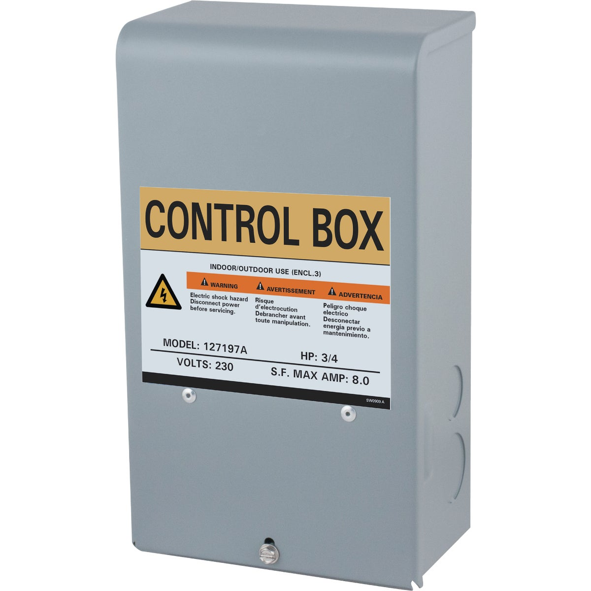 3/4HP 230V CONTROL BOX - 127197 by Star Water Systems