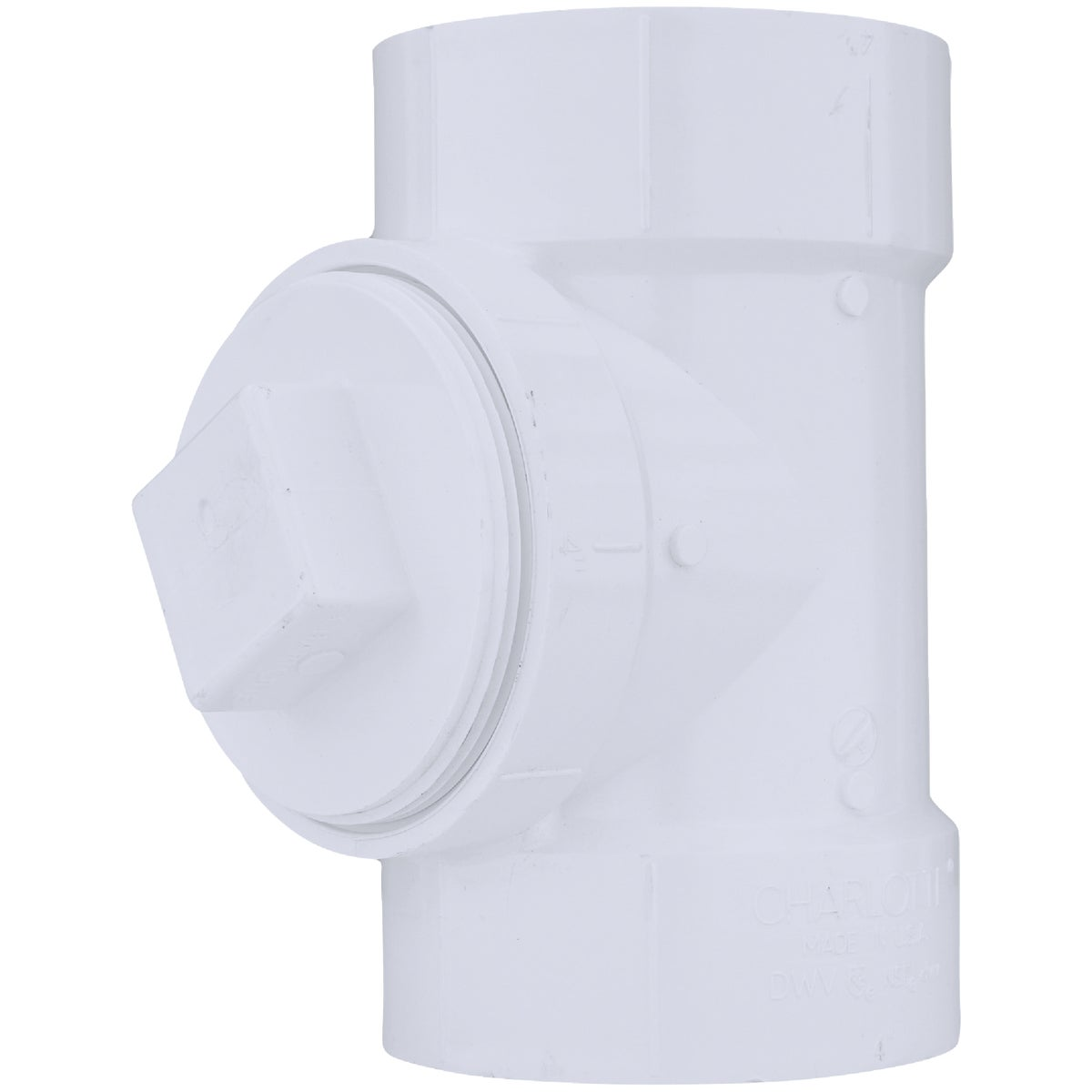 "4"" TEST TEE W/ PLUG - 71340 by Genova Inc  Pvc Dwv"