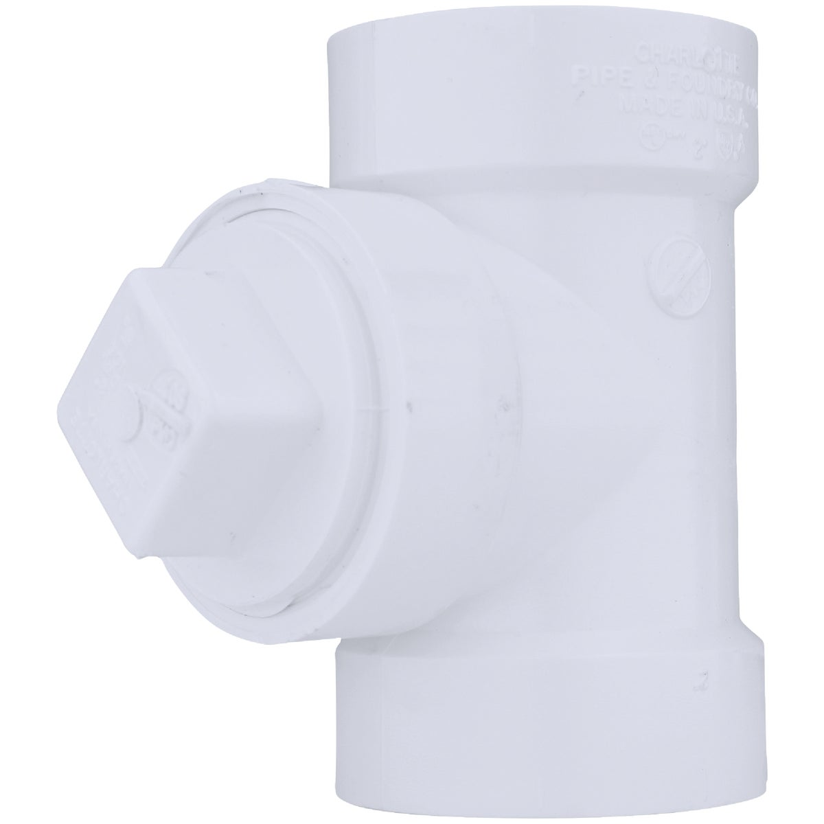 "2"" TEST W/PLUG TEE - 71320 by Genova Inc  Pvc Dwv"