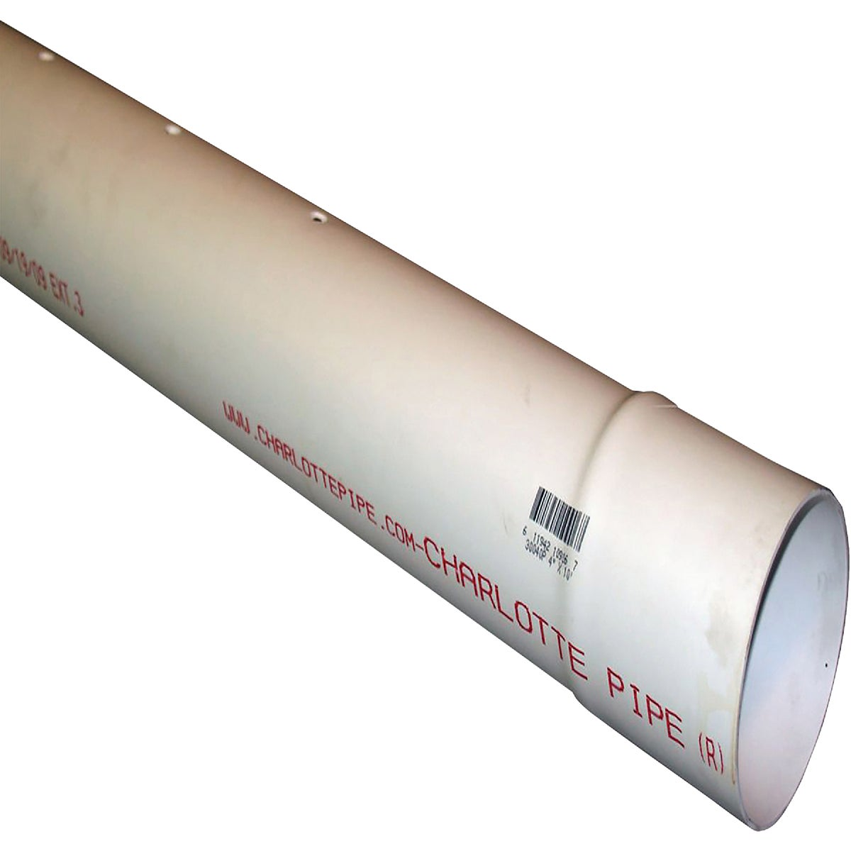"4""X10' D&S PERF PVC PIPE"