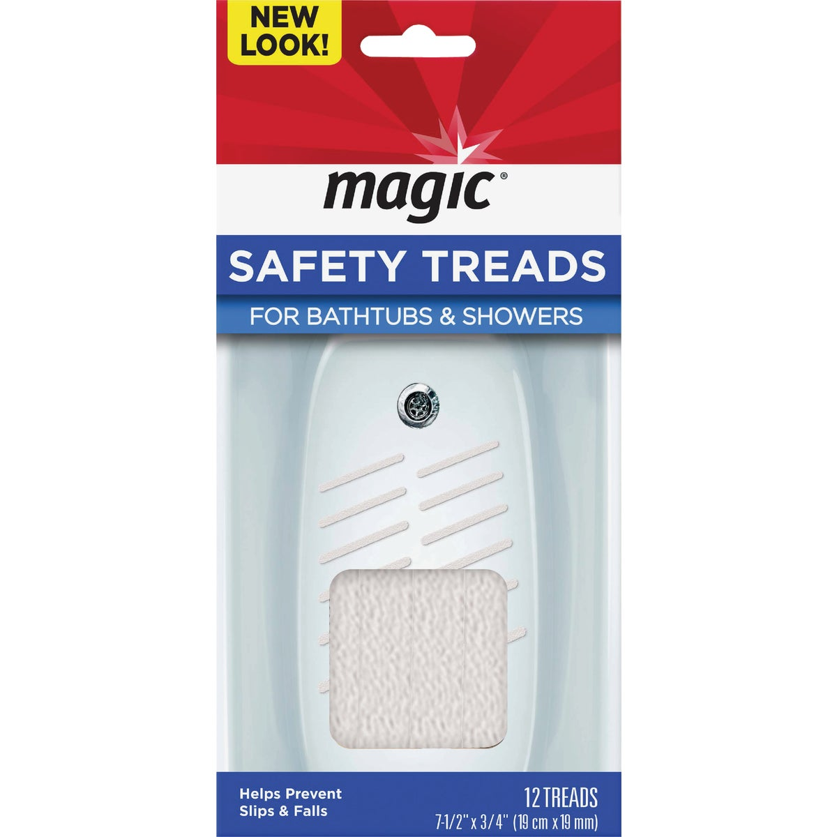 WHITE SAFETY TREADS - ST206T by Magic Ntrl Magic Sci