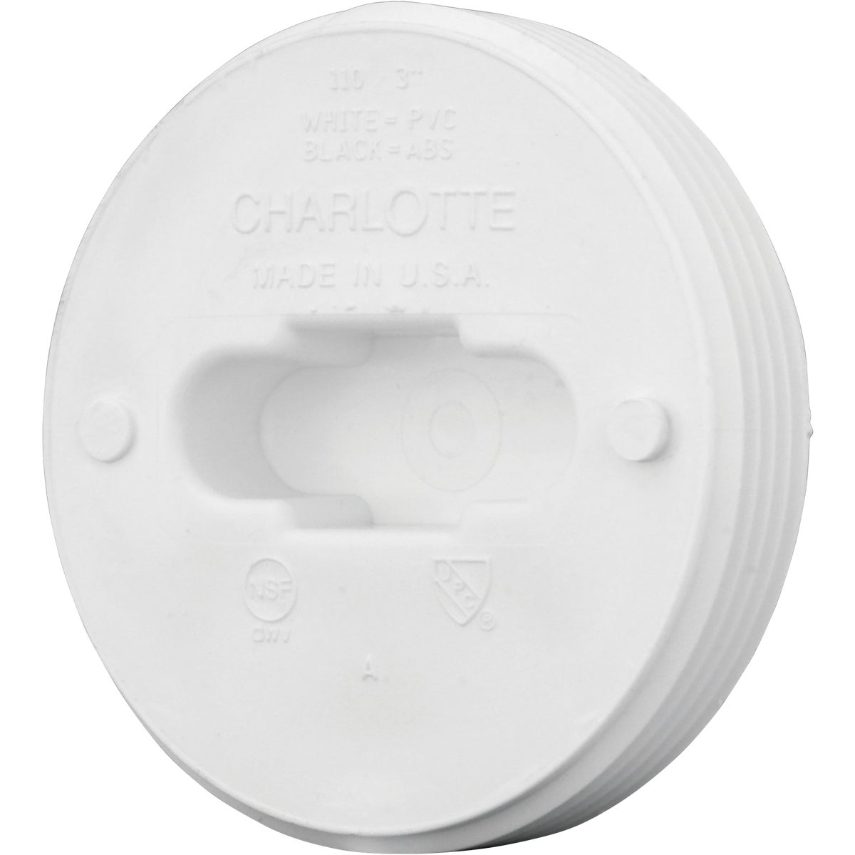 "3"" TOE-SAVER FLOOR PLUG - 71853 by Genova Inc  Pvc Dwv"