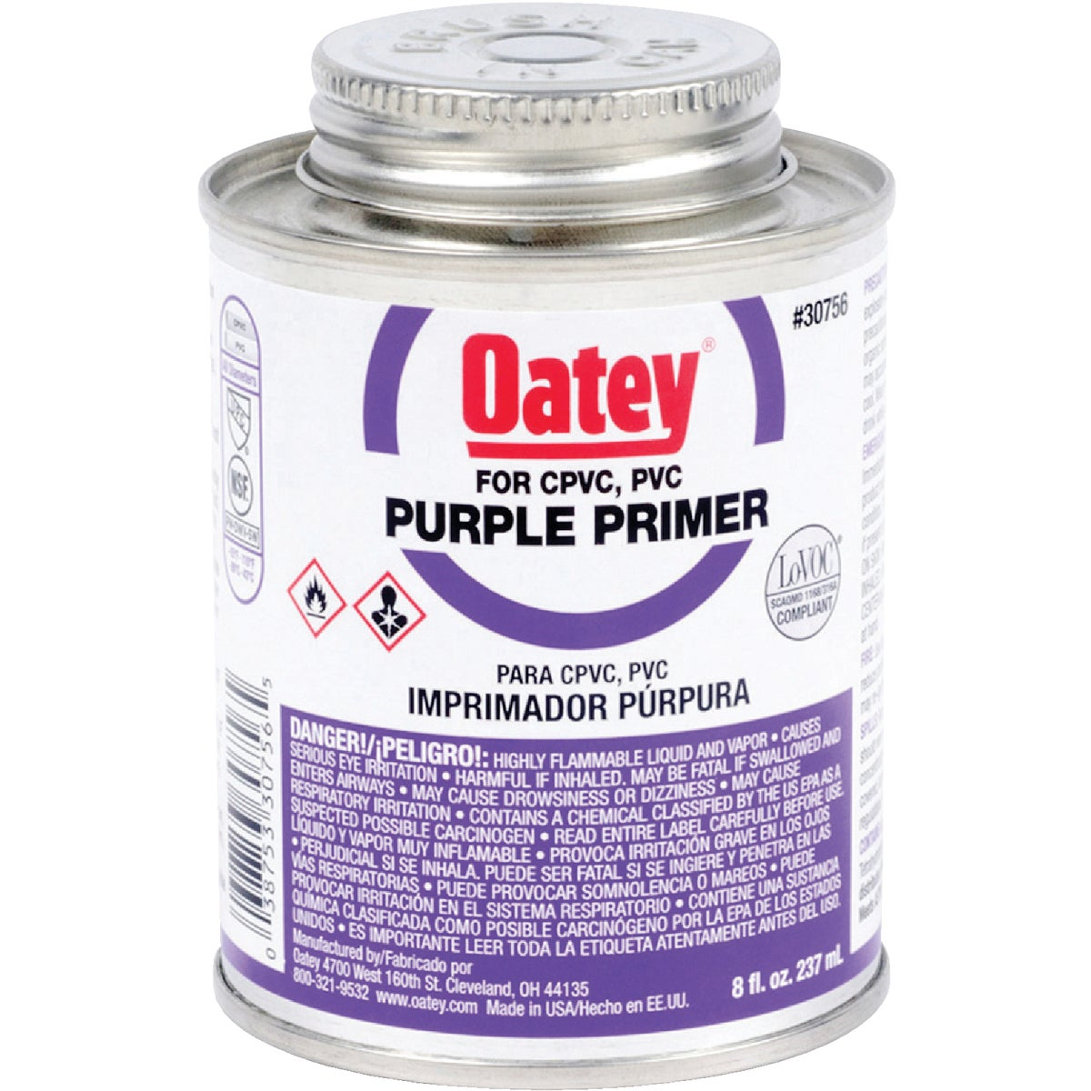 1/2PINT PURPLE PRIMER - 30756 by Oatey Scs
