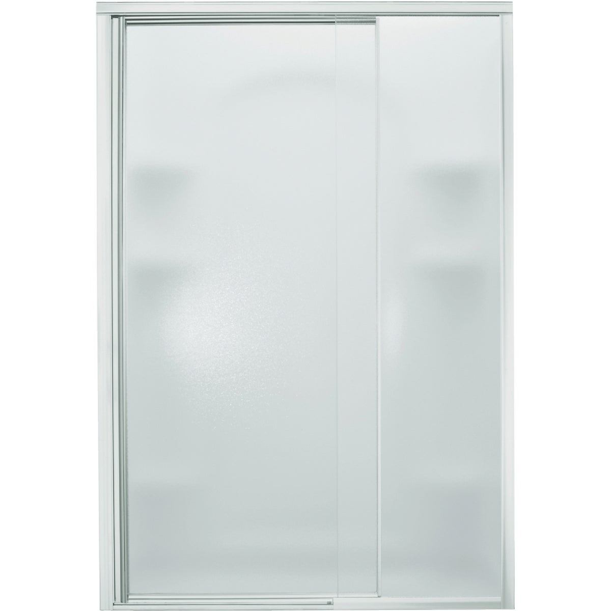 SILVER PIVOT SHOWER DOOR
