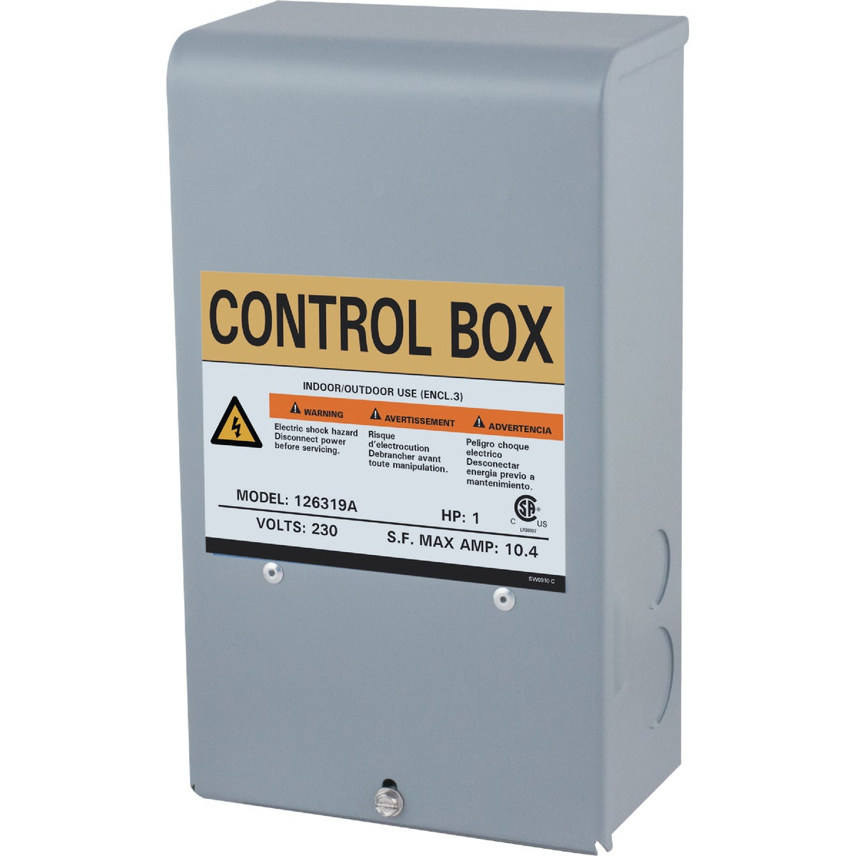 1HP 230V CONTROL BOX - 126319 by Star Water Systems
