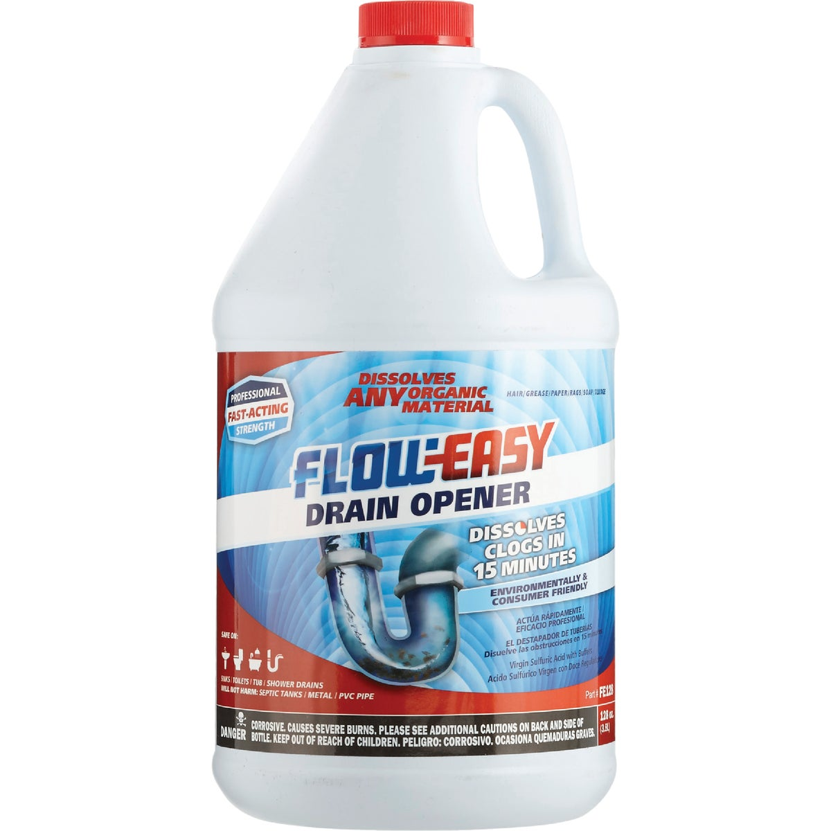 GALLON DRAIN OPENER - FE128 by Hi-Tec Labs