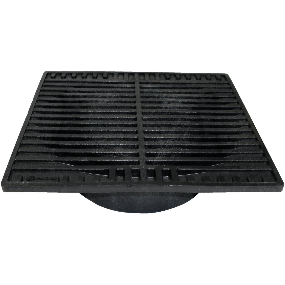 "9"" BLACK SQUARE GRATE - 970 by National Diversified"