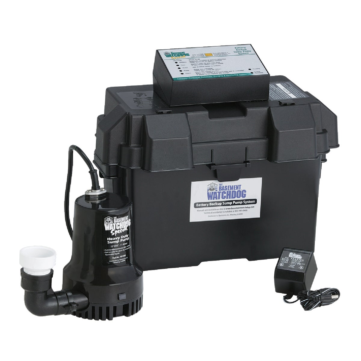 BATTERY BACKUP PUMP - BWSP by Glentronics Inc