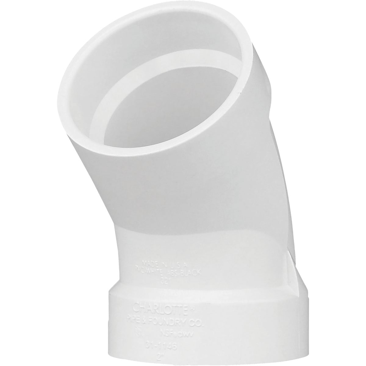 "2""45D DWV SANITARY ELBOW - 73620 by Genova Inc  Pvc Dwv"