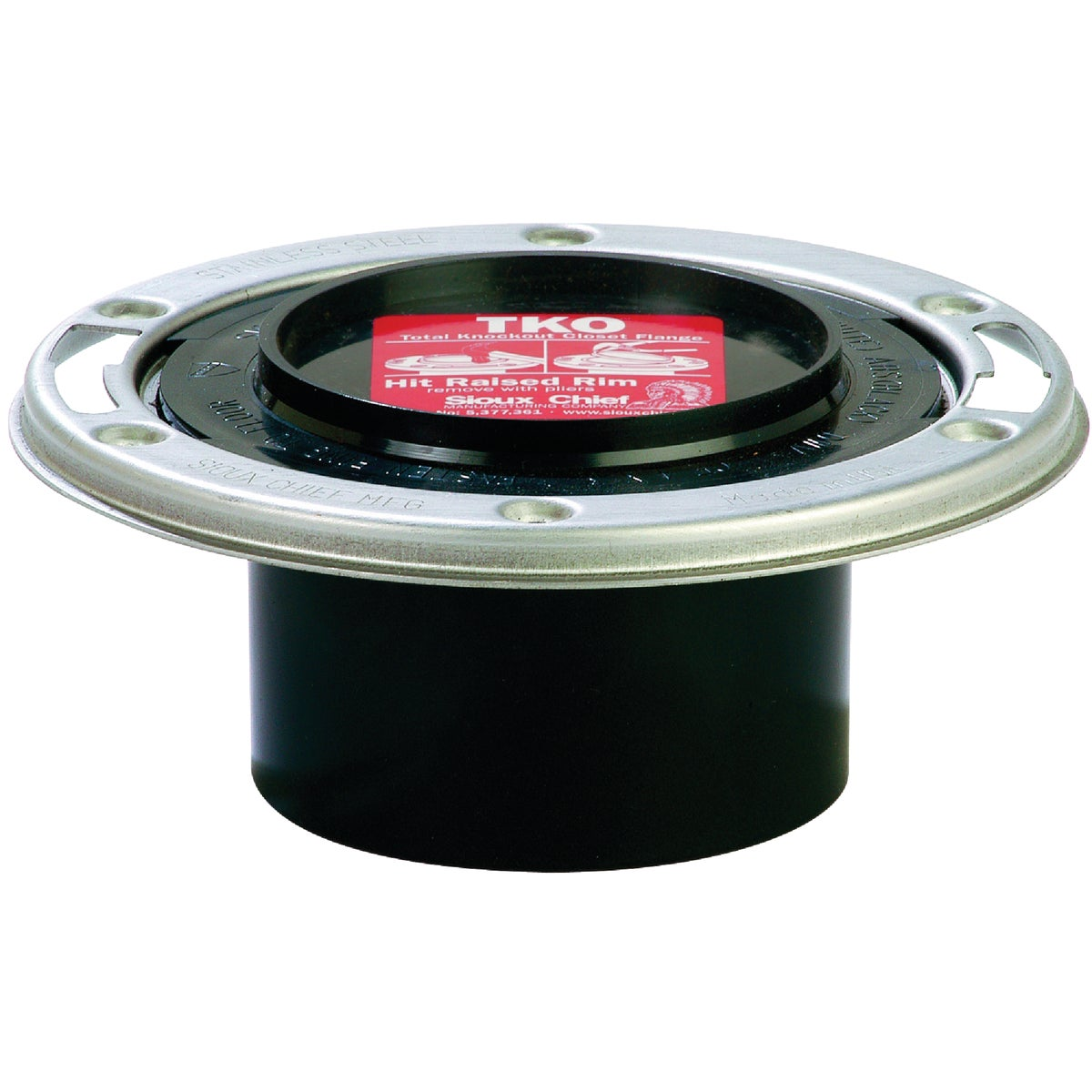 "3""SPG K/O SS ABS FLANGE - 886-ATMS by Sioux Chief Mfg"