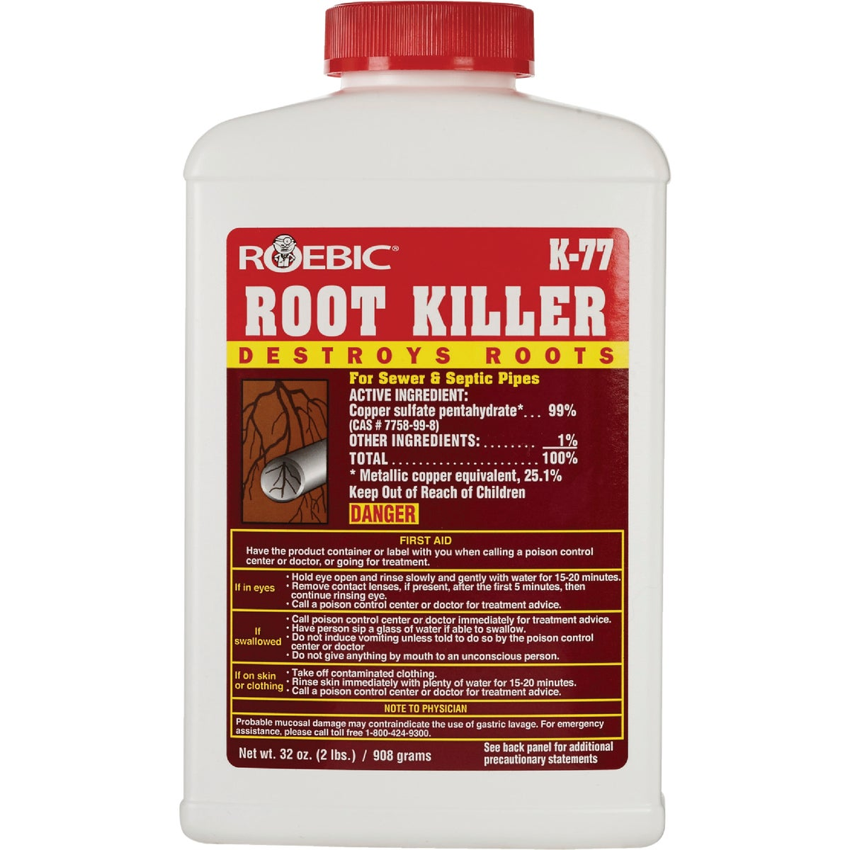 2LB ROOT KILLER - K77 by Roebic Laboratories