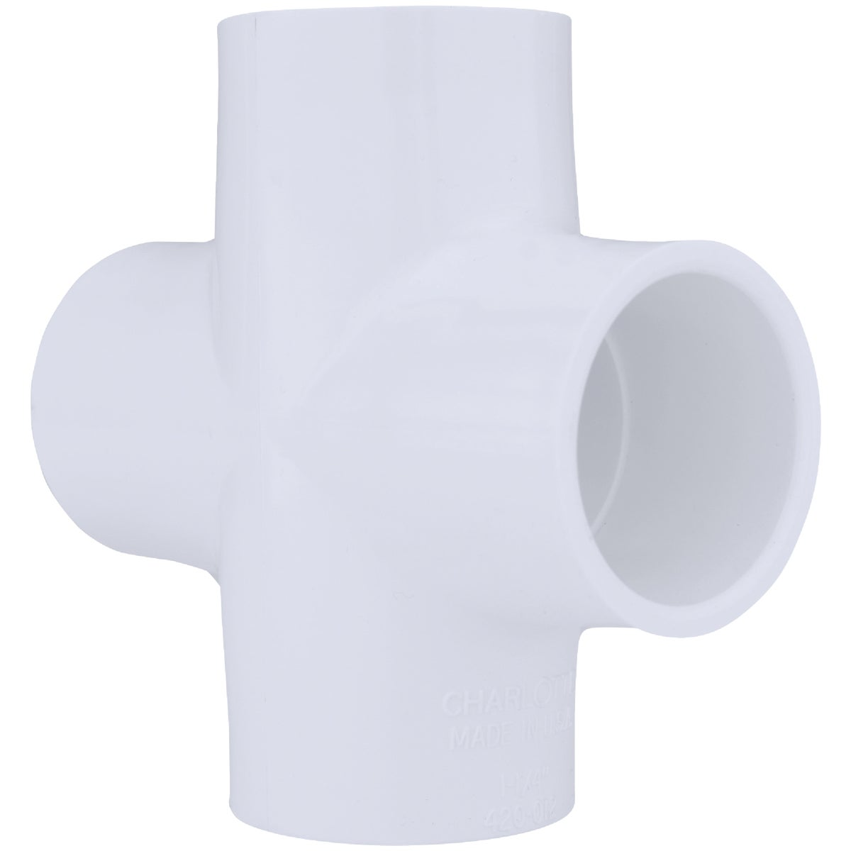 "1-1/4"" PVC SLIP CROSS"