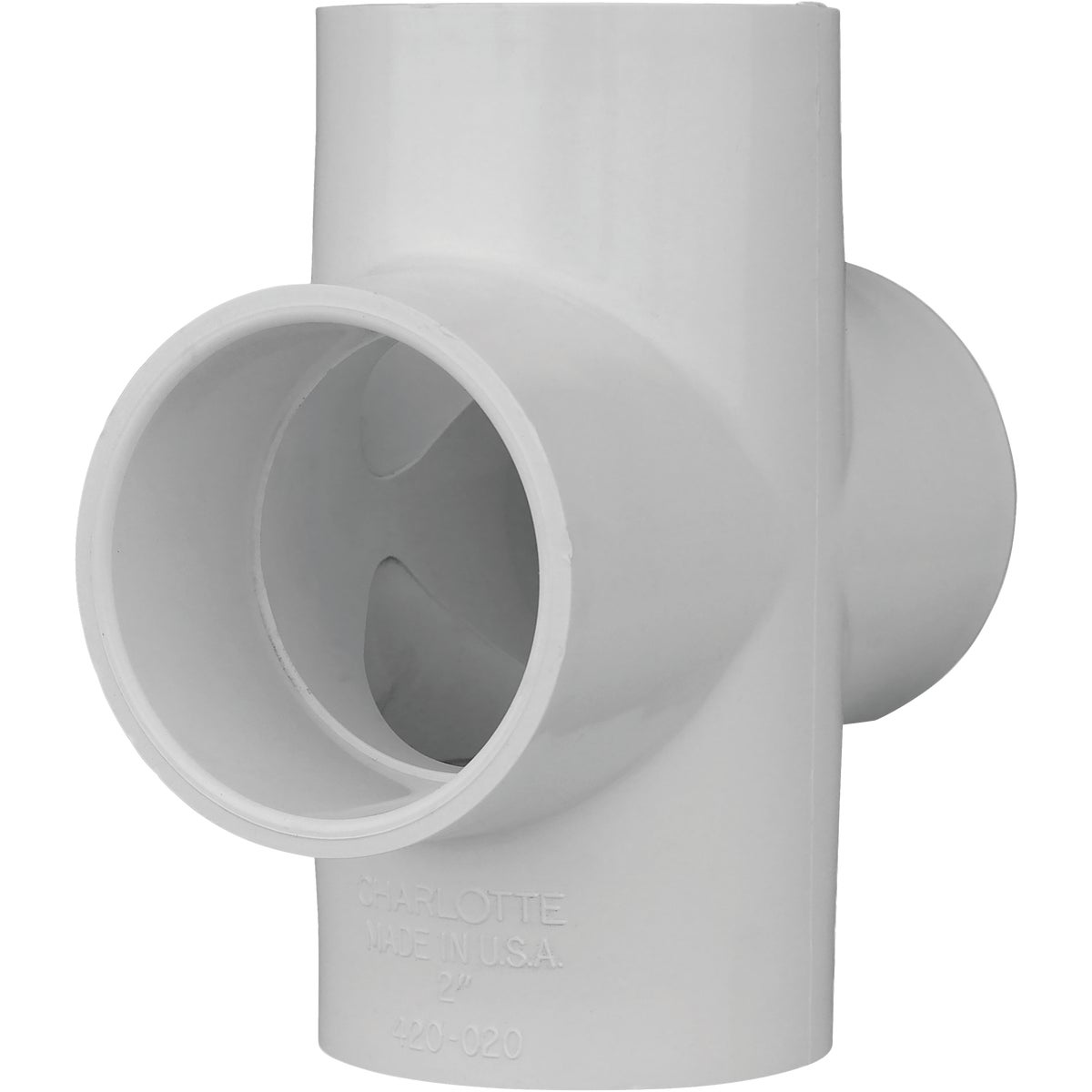 "2"" PVC SCH40 SLIP CROSS - 34420 by Genova Inc"