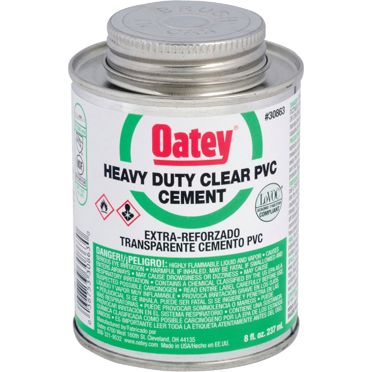 1/2PT H/DUTY PVC CEMENT - 30863 by Oatey Scs
