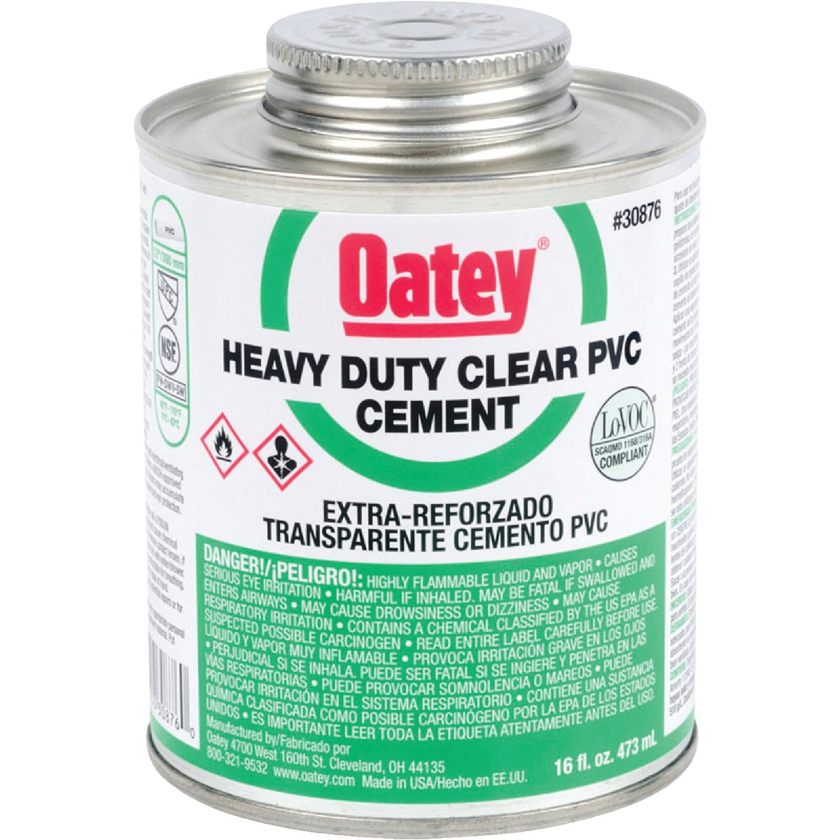 Oatey PINT H/DUTY PVC CEMENT 30876