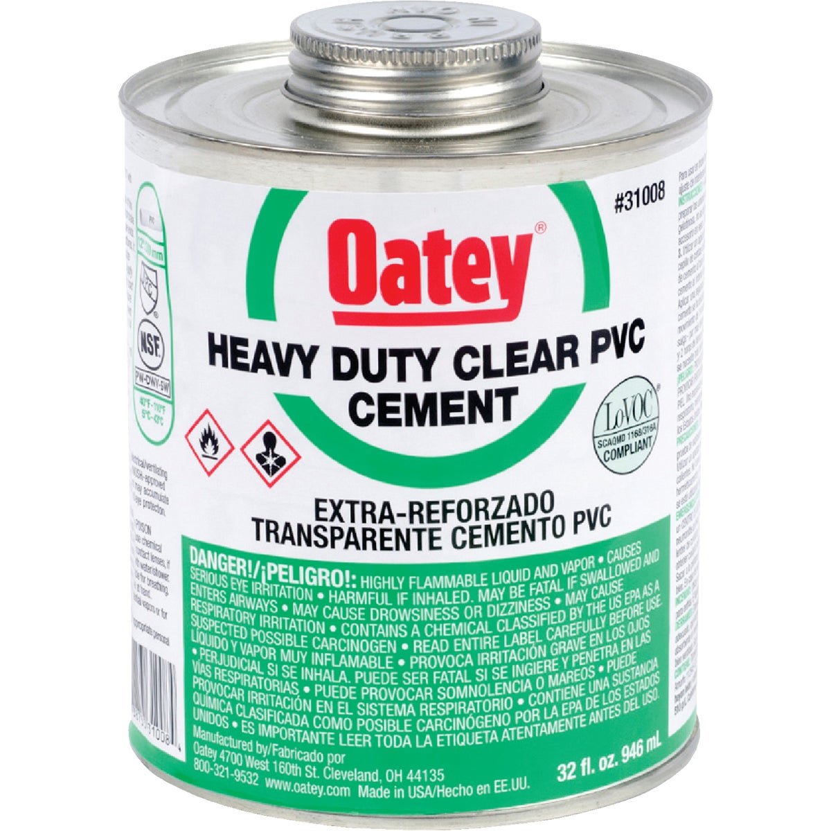QUART H/DUTY CEMENT - 31008 by Oatey Scs