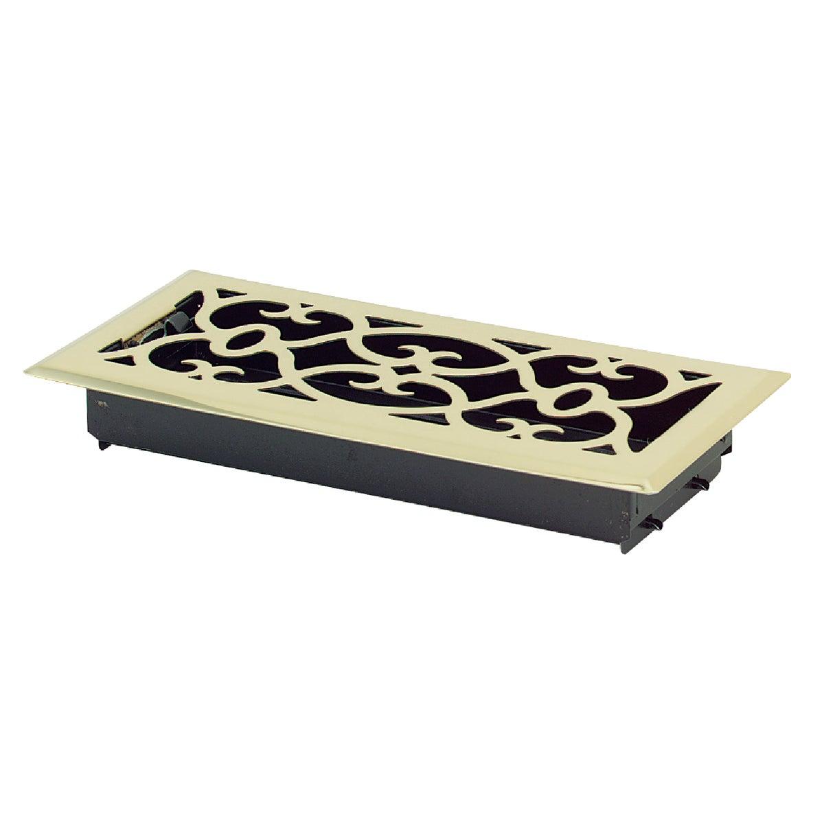 Accord Traditional Brass Floor Register, AMFRPBV410
