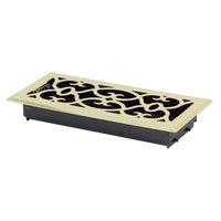 Greystone Home Products 4X10 PBRASS FLR REGISTER AMFRPBV410