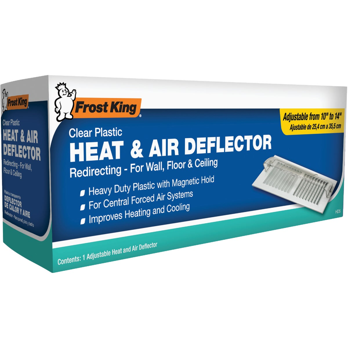 "10-14"" ADJ AIR DEFLECTOR - HD5 by Thermwell Prods Co"