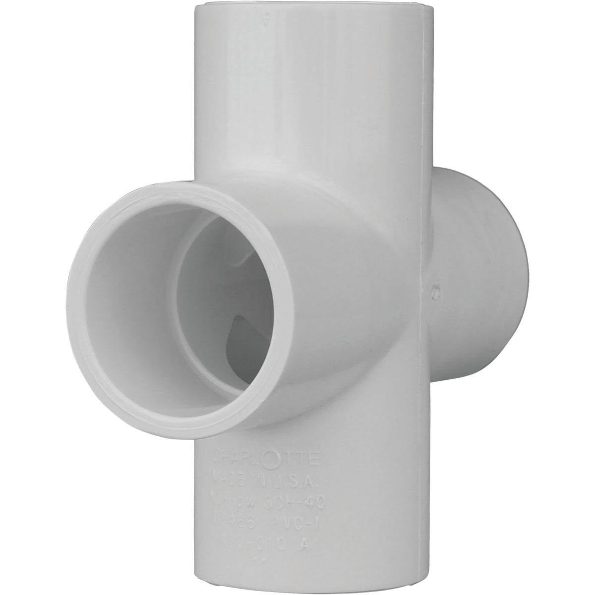 "1"" PVC SCH40 SLIP CROSS - 34410 by Genova Inc"