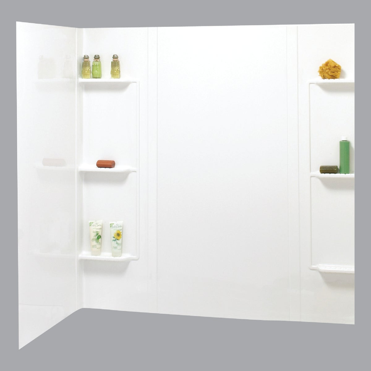 5PC WHITE TUB WALL KIT