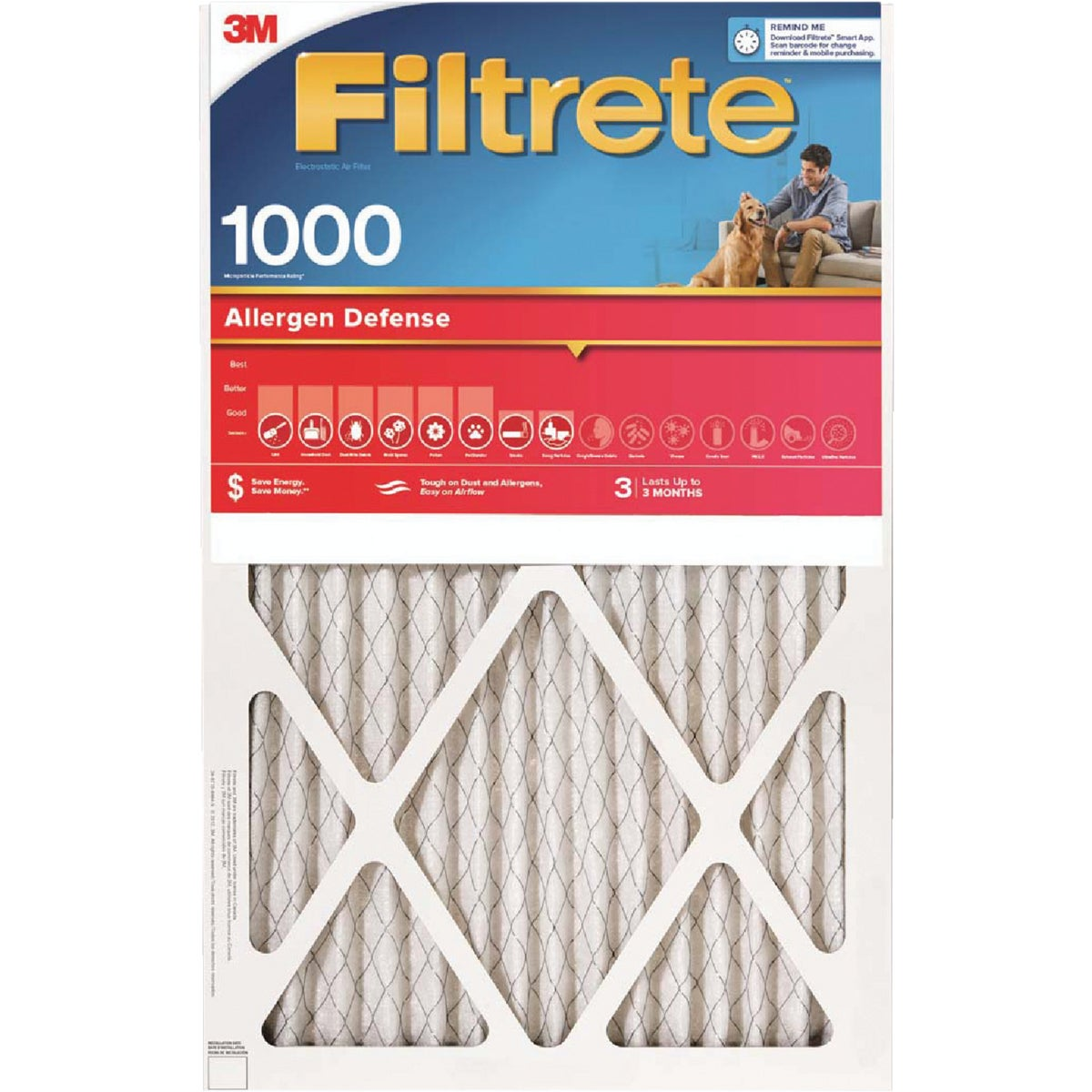 18X24X1 ALLERGEN FILTER - 9821DC-6 by 3m Co